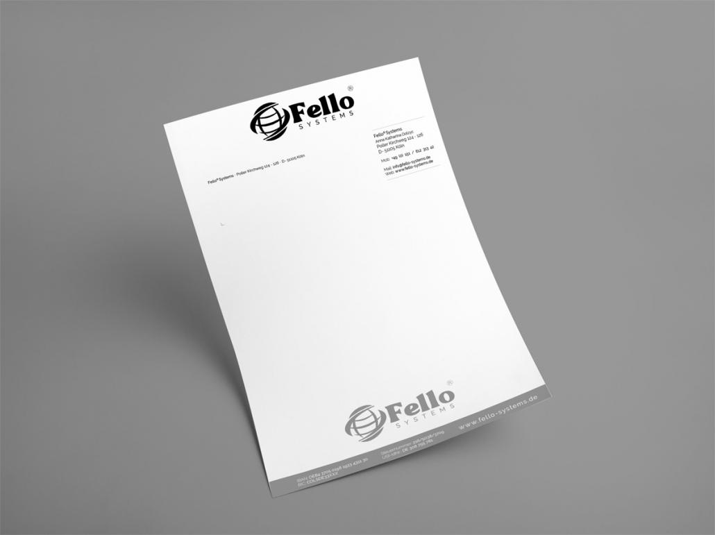 Fello-Systems Logo Briefpapier