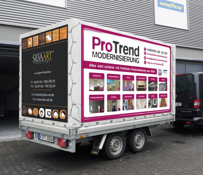 ProTrend Modernisierung und SILVAART Banner