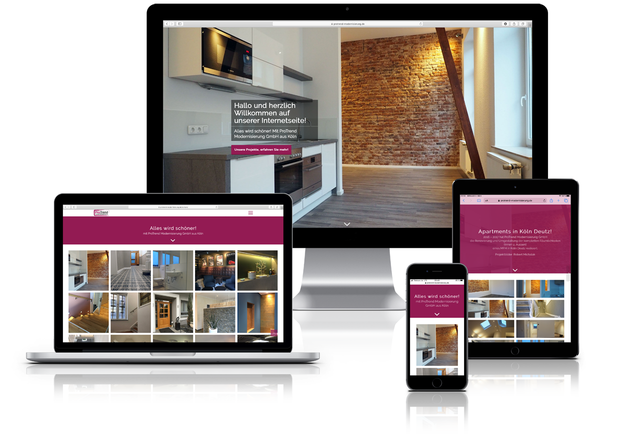 ProTrend Modernisierung responsive Webdesign