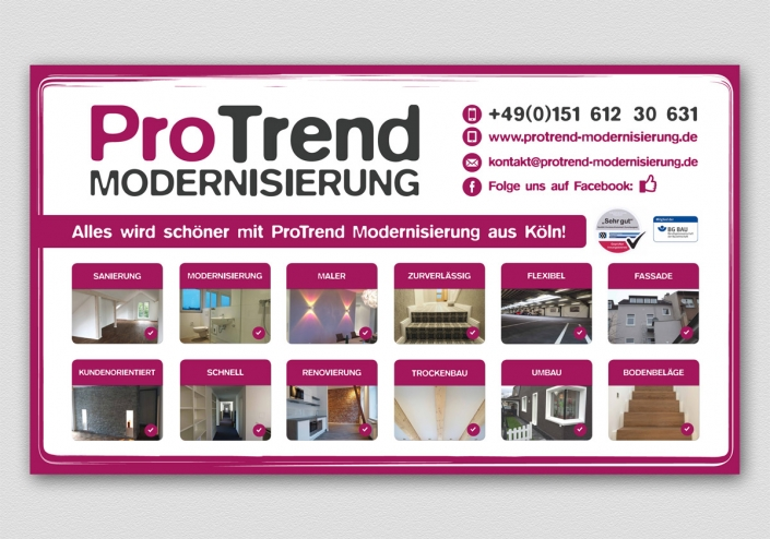 ProTrend Modernisierung Outdoor-Banner