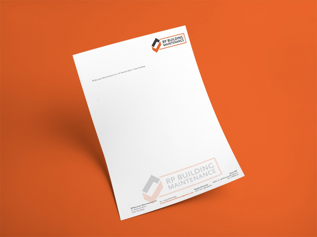RP Building Maintenance Logo Briefpapier
