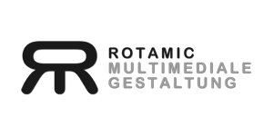 Rotamic-Multimediale Gestaltung Logo-Area Black