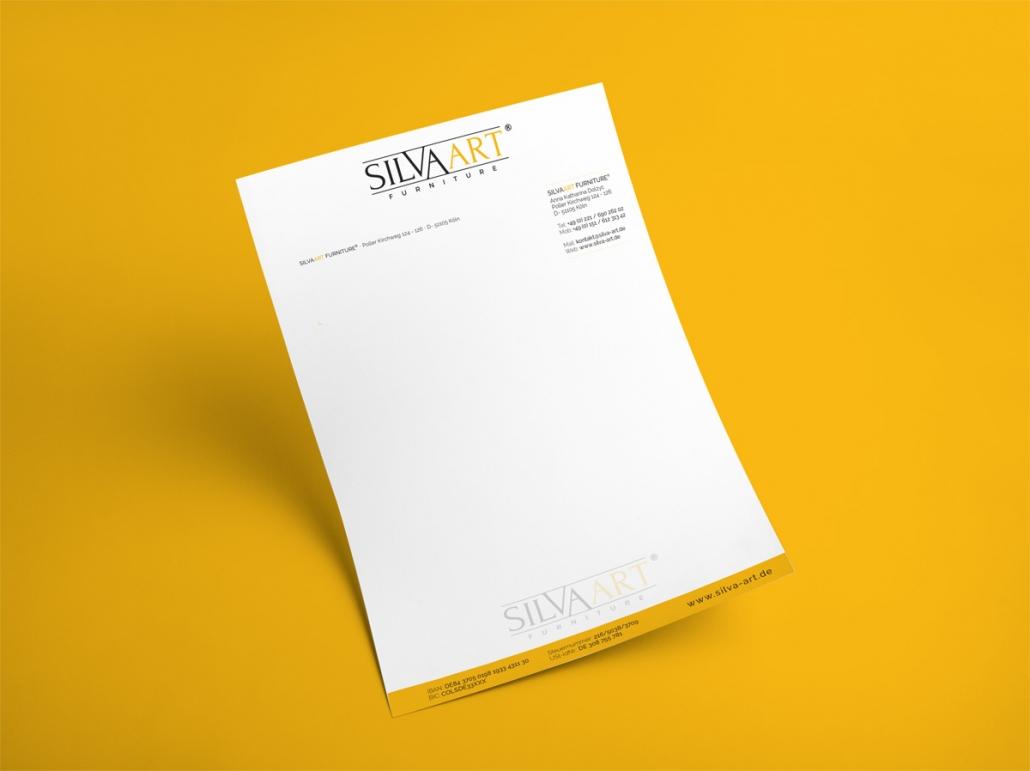 Silvaart Logo Briefpapier