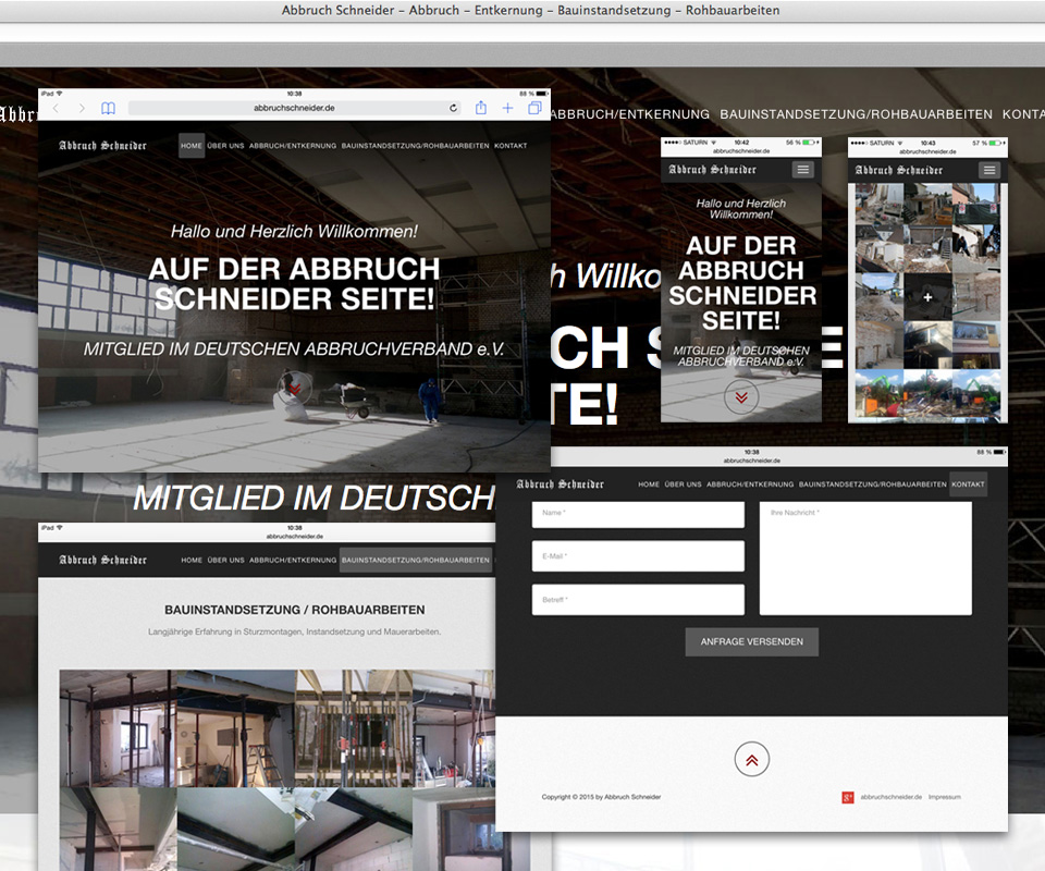 Abbruch Schneider Website