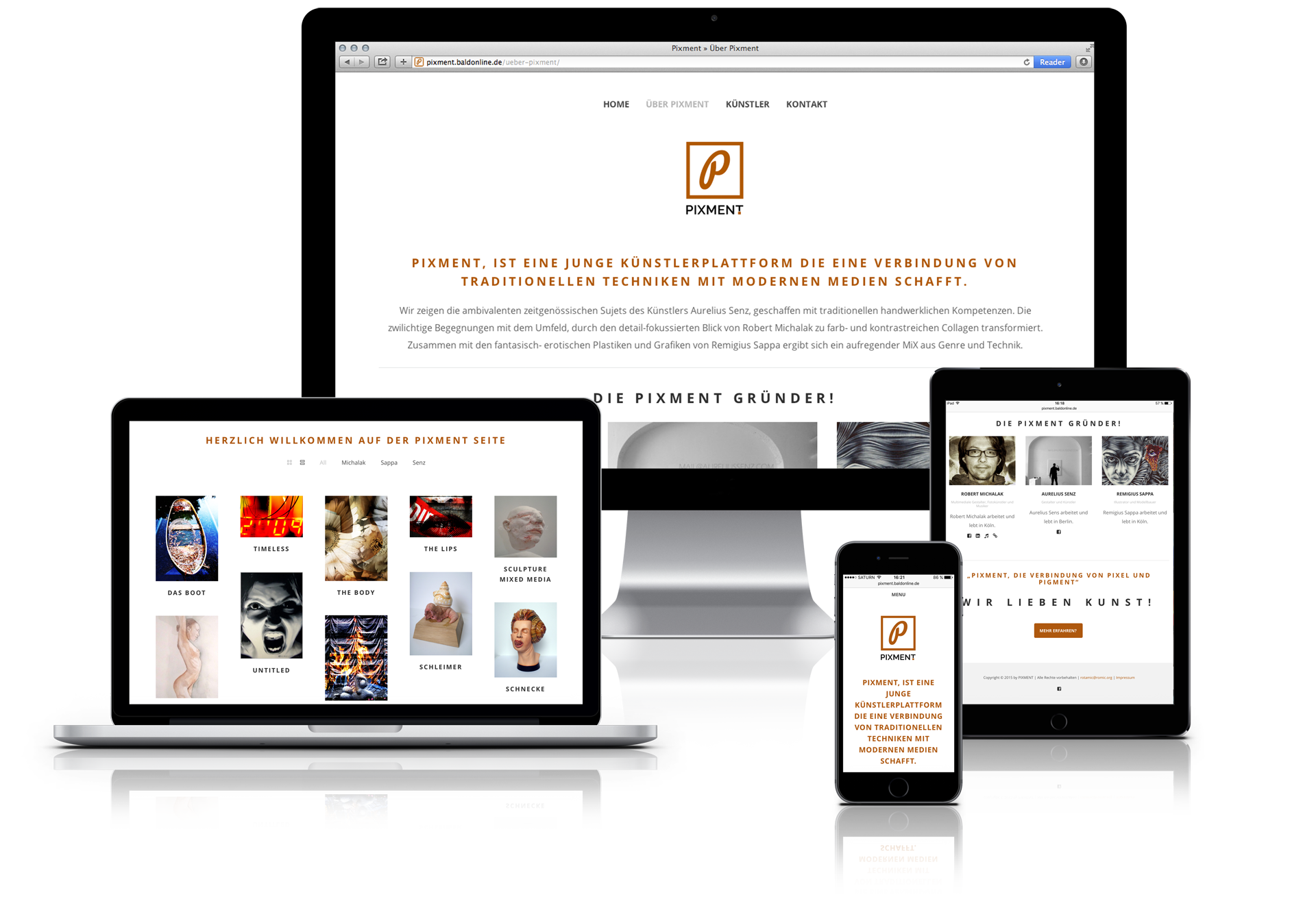 Pixment responsive Webdesign
